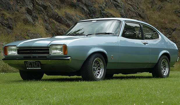 The 1974 Mk 2 V6 Capri after restoration.