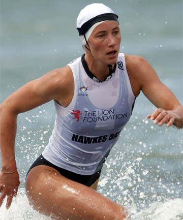 CRUNCH TIME: Accountant Nikki Cox has her sights firmly focused on a successful surf lifesaving world championship for the NZ team.