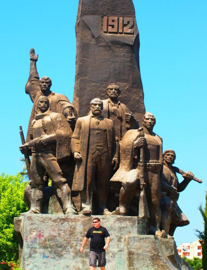 The country's bronze liberation statue.