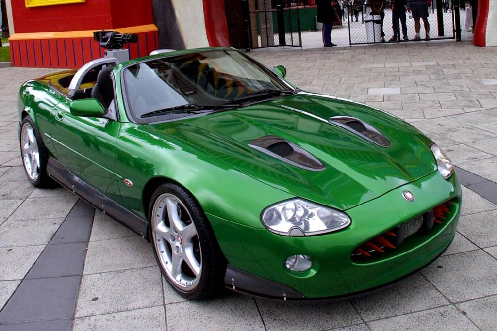 Jaguar XKR, the villian's car in the James Bond film, Die Another Day.