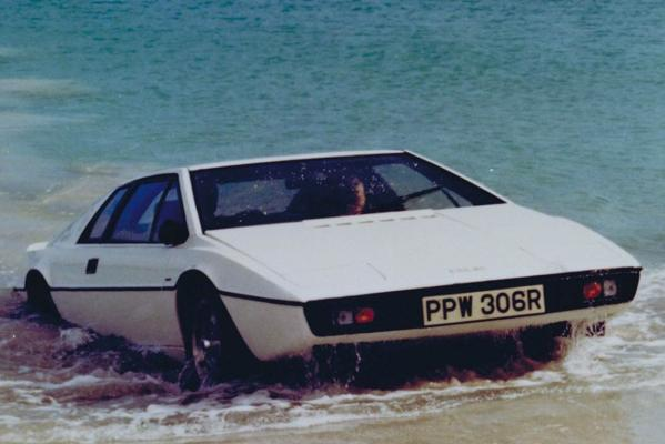 The Lotus Esprit from the James Bond movie, The Spy Who Loved Me (1977).