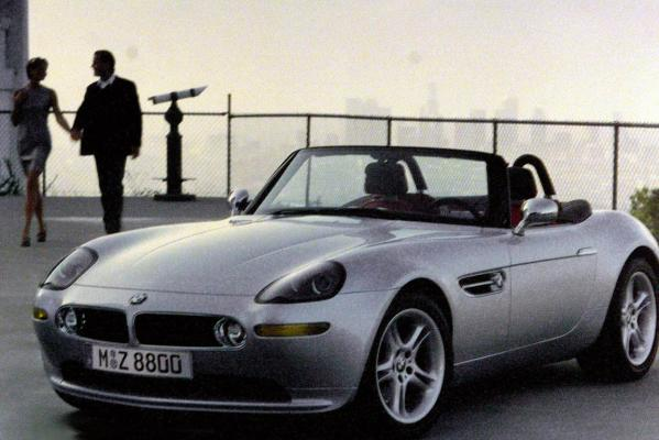 The BMW Z8 roadstar used in the James Bond movie The World is Not Enough.