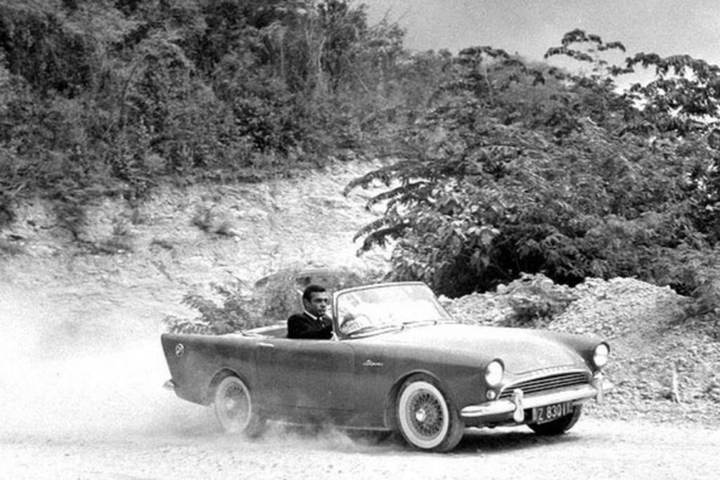 Sunbeam Alpine Series 5 from the James Bond movie, Dr. No (1962).
