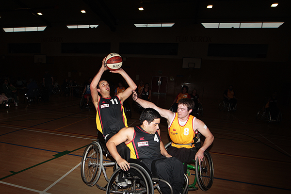 Players rolled into Hamilton on Saturday for the second round of the Northern Wheelchair Basketball League tournament.