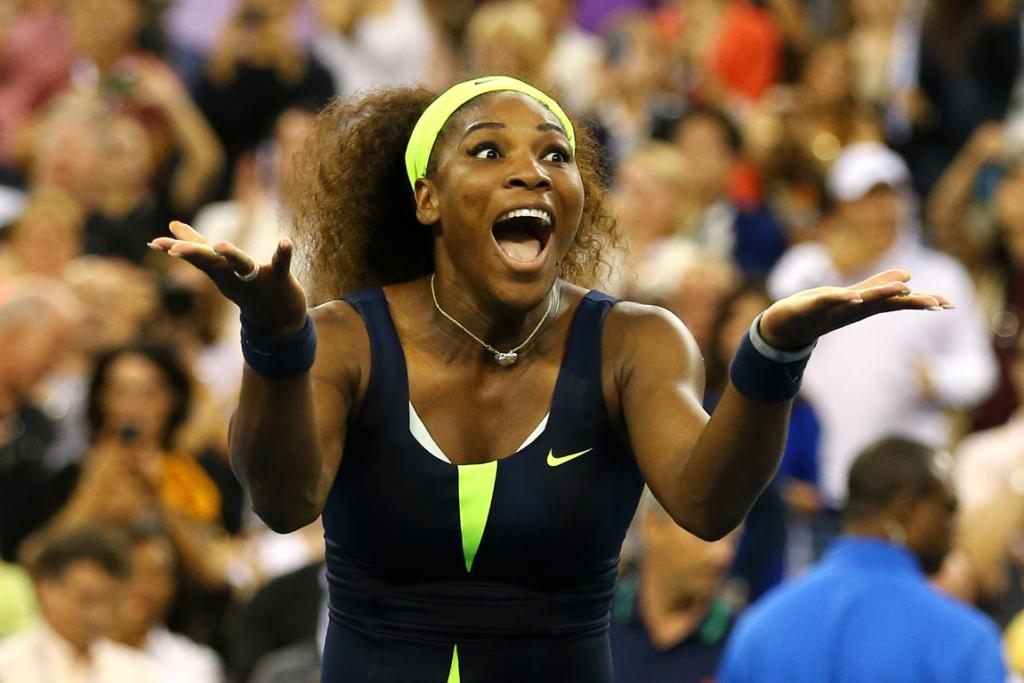 Serena Williams reacts after beating Victoria Azarenka to win her fourth US Open.