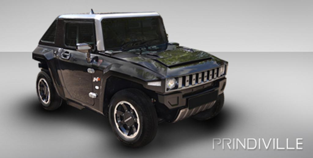 Prindiville's electric Hummer.