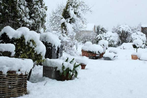 Snow at Wick Cottage in Athol, northern Southland.