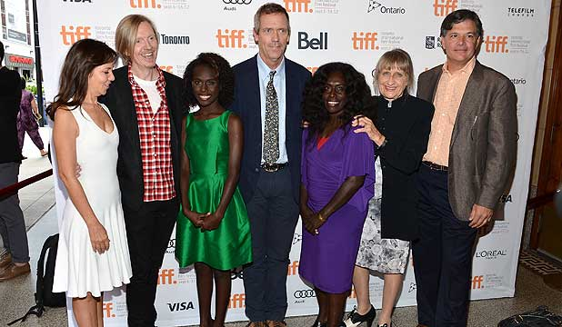 MR PIP PREMIERE: Producer Leslie Urdang, director Andrew Adamson, actress Healesville Joel, actor Hugh Laurie, actress Xzannjah Matsi and producers Robin Scholes and Dean Vanech