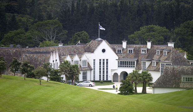 DOTCOM HQ: Kim Dotcom's leased  $30 million Coatesville mansion.
