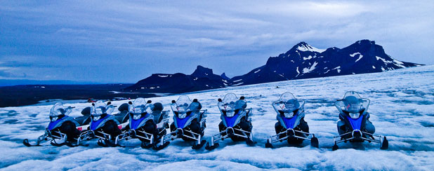 SNOW BIKES: We chose a tour with Extreme Iceland that also included a visit to the Langjokull glacier for snowmobiling.