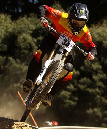 REMEMBERED: James Dodds competes in the NZ Downhill Cup in 2011.