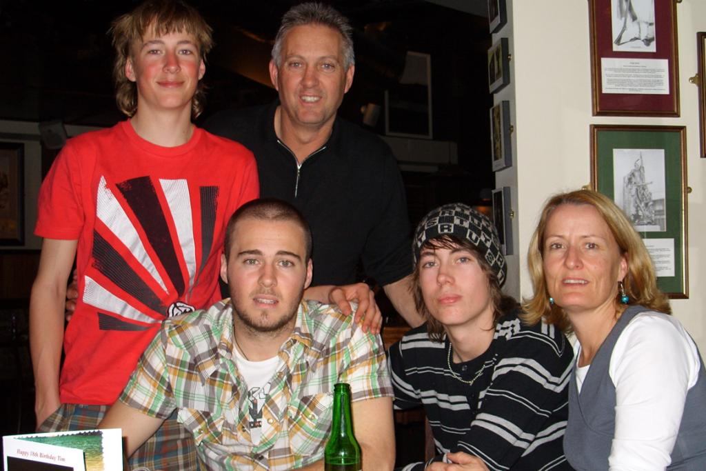 Tim Wortelboer and his family