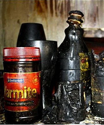 FOR SALE: Marmite and other oddities to survive a house fire.