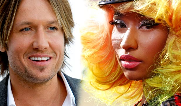 NEW JUDGES: Keith Urban and Nicki Minaj.