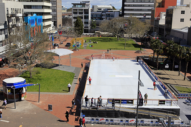 BACK IN DEMAND: The ice rink was a huge success in its first stint in Hamilton last year with about 20,000 people using it.