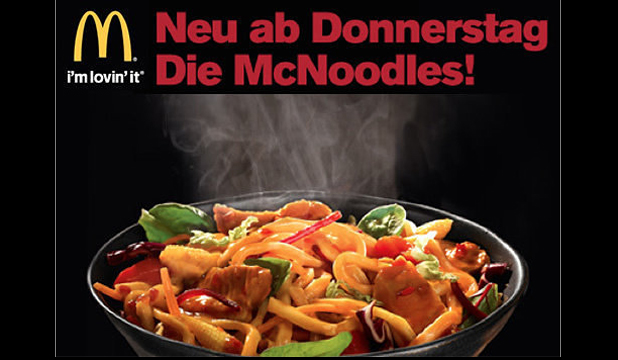 MCCHOPSTICKS: An ad for the McNoodles from Austria.