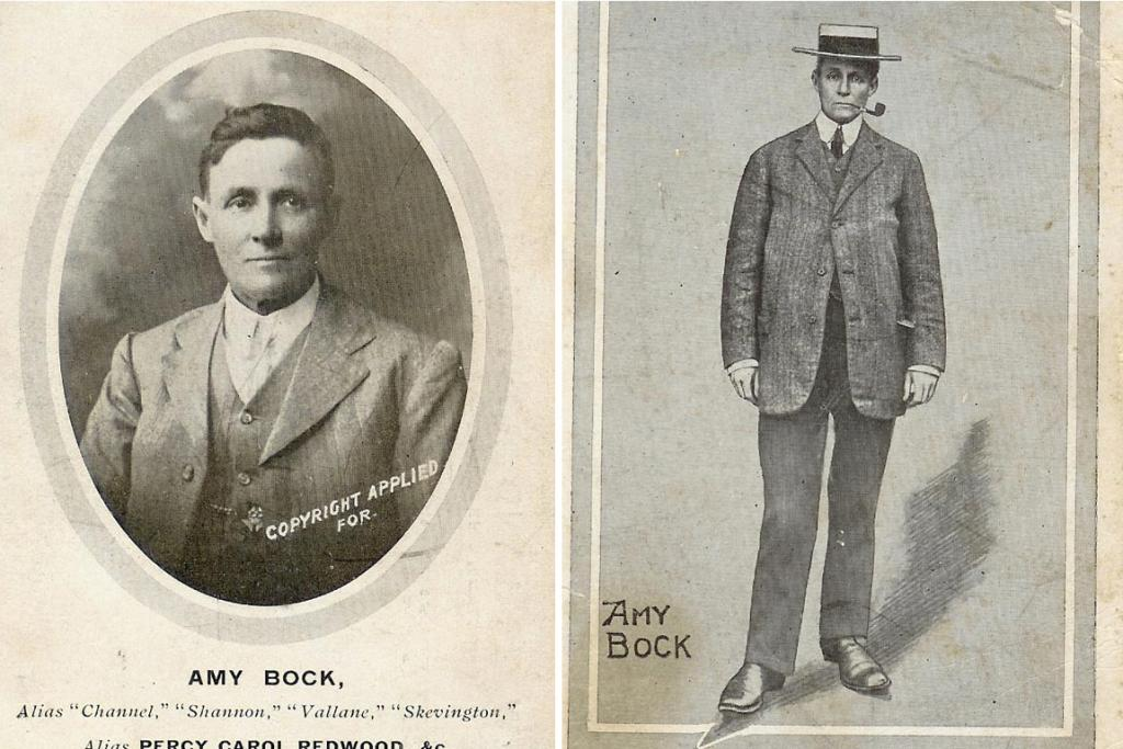 Amy Bock as a man. She masqueraded as a man and duped Agnes Ottoway into marrying her.