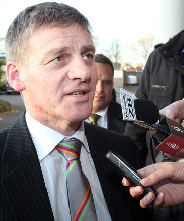 'IT'S NOT A FARCE': Finance Minister Bill English speaks to media.