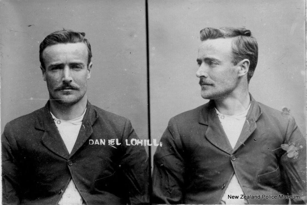 Daniel Lohill (b. 1883, New Zealand). Charged with theft and sentenced to four months on March 2, 1908.