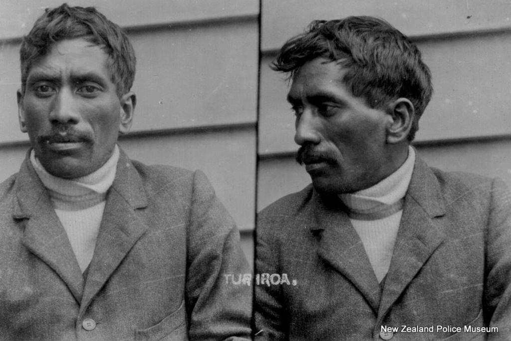 Turiroa (b. 1884, New Zealand). Charged with theft and sentenced to one month in gaol or a fine of 5 pounds sterling on July 29, 1909.