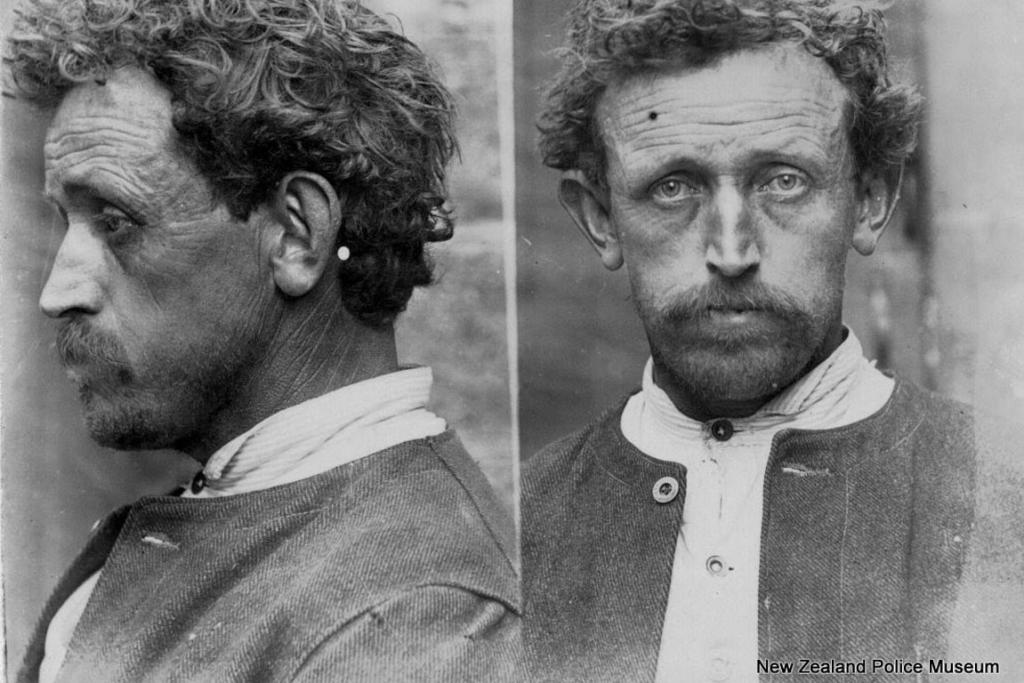 James Bowden (b. 1863, New Zealand). Charged with drunkenness and sentenced to 14 days in gaol on September 7, 1907.