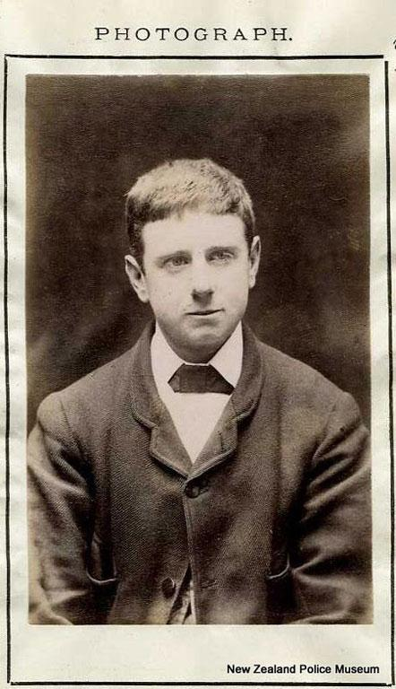 Basil Cochrane, alias George McDonald (b. 1868, England). Charged with three counts of imposing and sentenced to four months on each charge on 20 July 1888. A draper by trade, described as having a dimple on his chin.