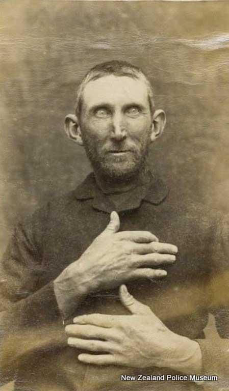 John Powell (b. 1843). Charged with killing a sheep with intent to steal the carcass and sentenced to two years in gaol on October 8, 1889.