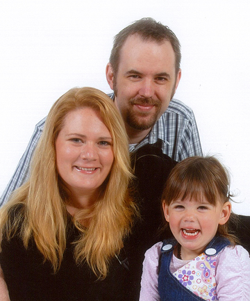 Happy times: Blenheim couple Aaron and Melissa Biggs with daughter Lily, aged 2, had everything to look forward to when this photo was taken in 2011. The family's future changed last month when Aaron learned he had liver and bowel cancer and had just two months left to live.