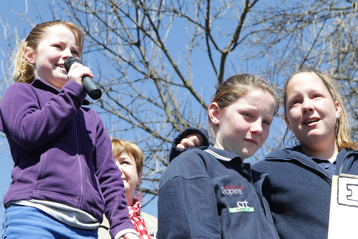 rotest against Canterbury schools reforms, 22 September 2012