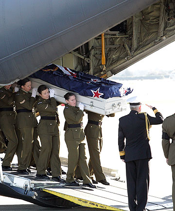 THEY WILL REMEMBER: The military pays tribute to its fallen soldiers.