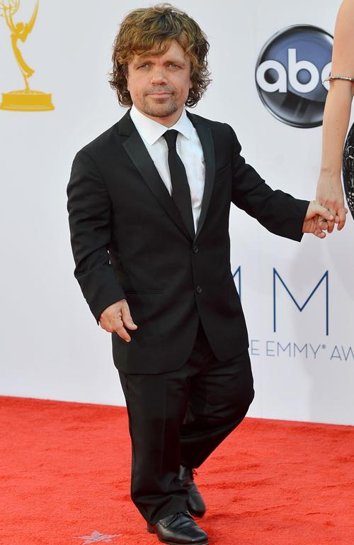 Game Of Thrones star Peter Dinklage arrives at the Emmys.