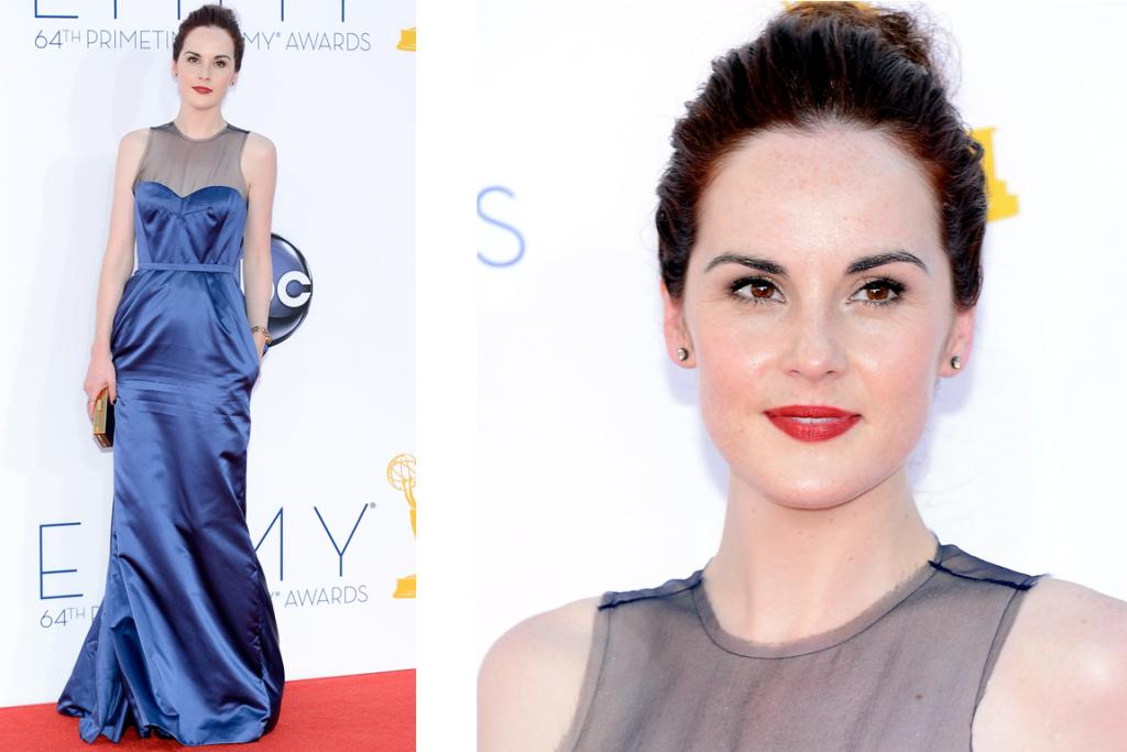 Michelle Dockery, wearing a dress that appears to be made from a pair of curtains from Downton Abbey. So much harder to dress well without one's maid, don't you think?