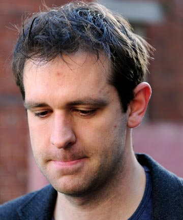 ORDEAL: Tom Meagher, husband of Jill Meagher, outside the Brunswick Police Station in Melbourne.