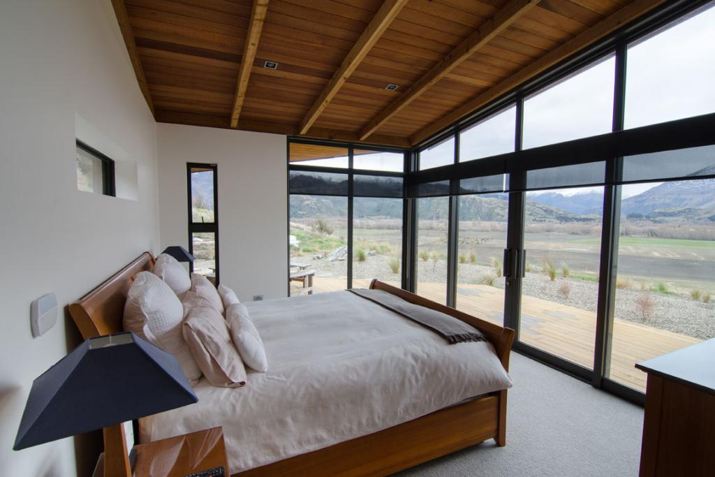 The bedrooms have inspiring views.