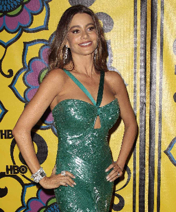 The excellent Modern Family's Sofia Vergara after the Emmys award ceremony.