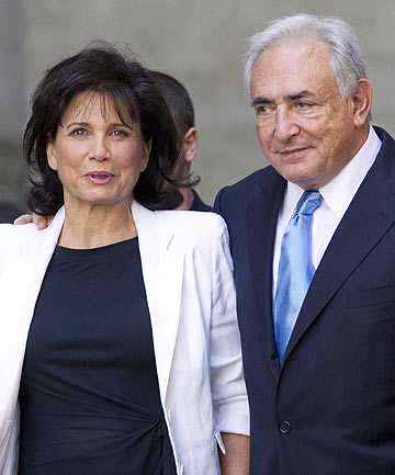 HOPES DASHED: Strauss-Kahn's wife, Anne Sinclair, has shunned the role of supportive spouse to revive her career as a journalist.