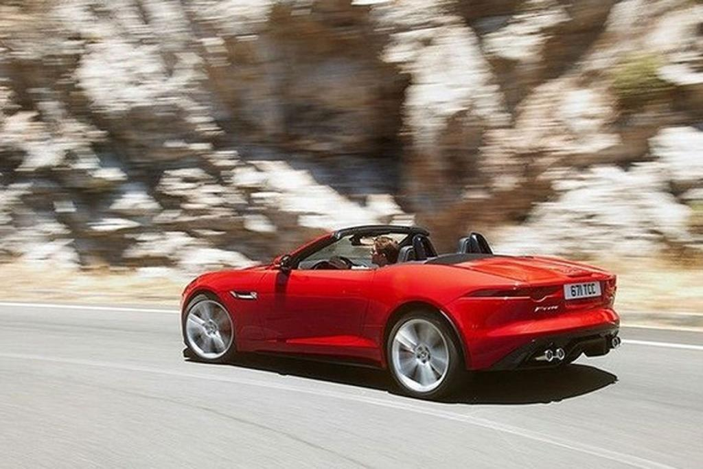 A leaked picture of the Jaguar F-Type.