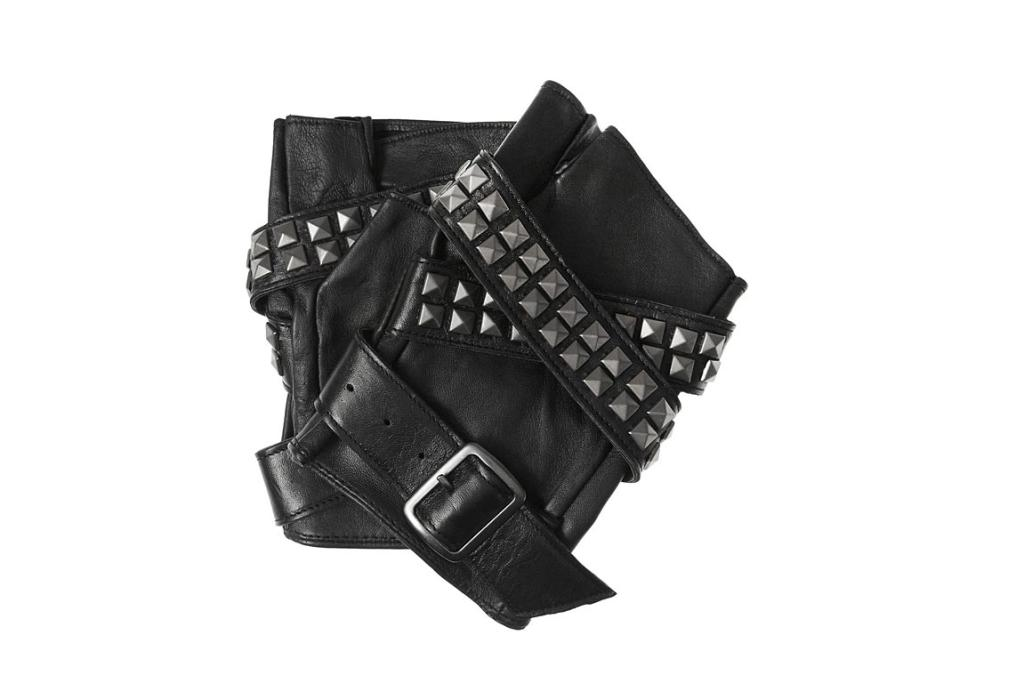 "Karl fingerless gloves. ""Watch out tough guy, the king of the fingerless glove - Mr Karl Lagerfeld himself designed these. Watch and learn how the maestro does it"""