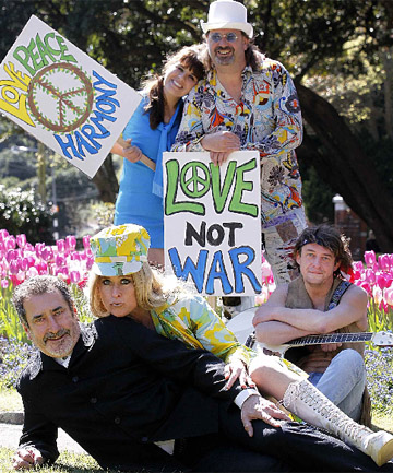 The California Dreamers are, front, William Kircher and his wife Nicole Chesterman-Kircher, and rear from left, Tineke Snow, Ian Parr and Carlton McRae.