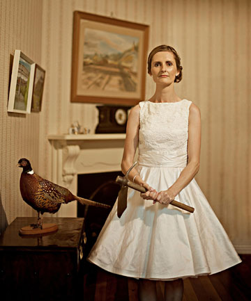 Axe-Bride: Waihi photographer Jake Thomas' award winning entry in the 2012 Iris Awards.
