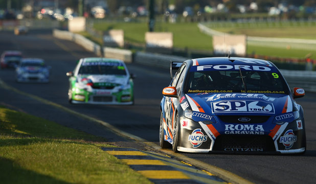 MOVING UP: Shane van Gisbergen (Ford) was fifth overall at Sandown and now chases Bathurst 1000 glory.