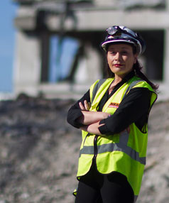 Helina Stil is the health and saftey manager for the Nikau demolition company.