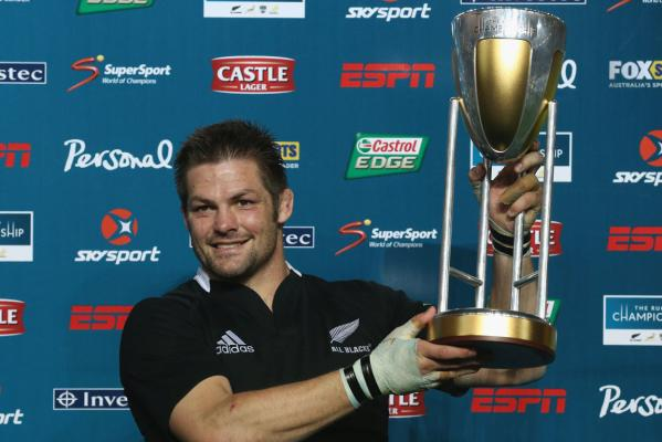 All Blacks captain Richei McCaw with the Rugby Championship.