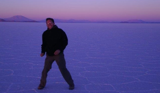 Yann Robert on the salt flat