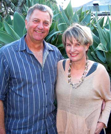 TOWN PROJECT: Richard and Diana Moore are helping beautify Maungaturoto for its 150th anniversary next year.