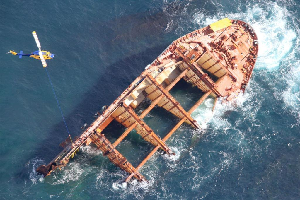 The Rena wreck.