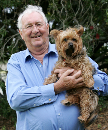 Animal antics: Bob Kerridge, one of the organisers of the New Zealand Companion Animal Conference.