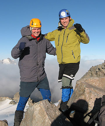 STANDING TALL: Nigel Watson and his brother, Nathan, plan to climb 21 peaks in 21 days, raising money for the endangered kea in the process.