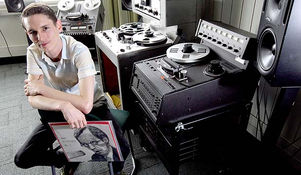 VINTAGE SOUNDS: Alex Bennett is starting Sound Recordings, a record label dedicated to capturing local music with early recording technology