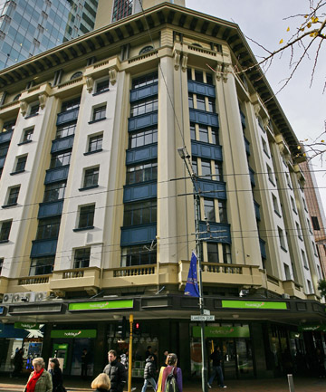 The Harcourts Building on Lambton Quay is a heritage building, but it is also an earthquake risk.